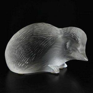 "Crystal Art Deco Hedgehog Figurine Sculpture 5"" 👍"